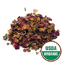 red rose buds petals organic